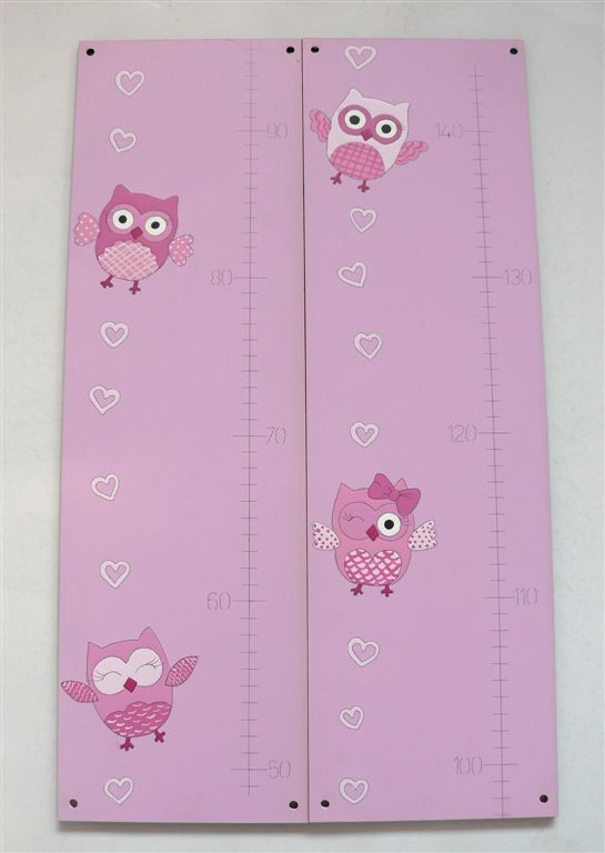 Growth chart with owls