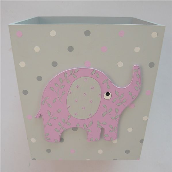 Pink and Grey Dustbin