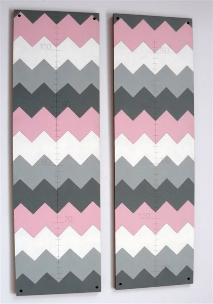 Pink white and grey Chevron