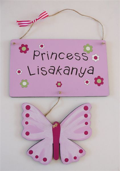 Princess name plaque