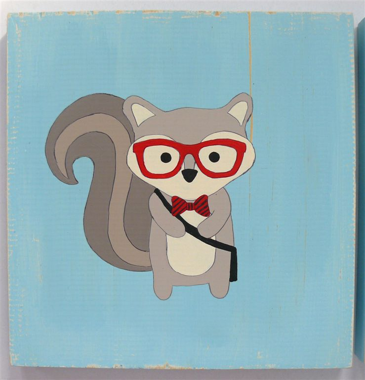 Hipster Racoon with glasses