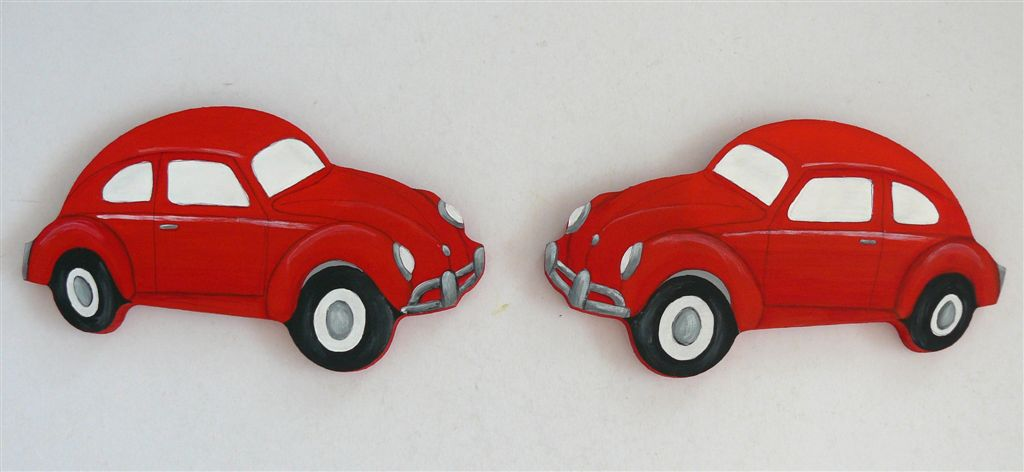Tiebacks red vw beetle