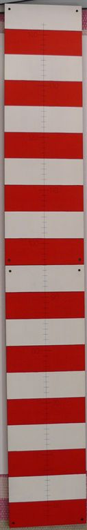Red and white nautical growth chart