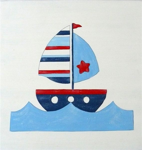 Sailboat on White