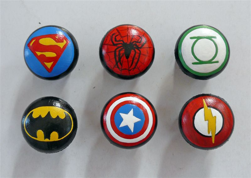 Superheroes doorknobs
