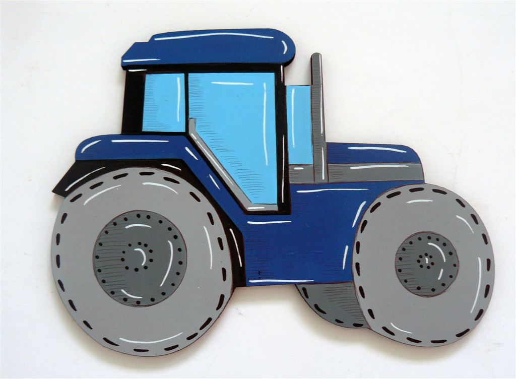 Tractor blue cutout