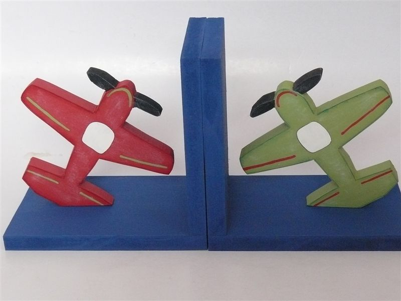Vintage Planes Bookends