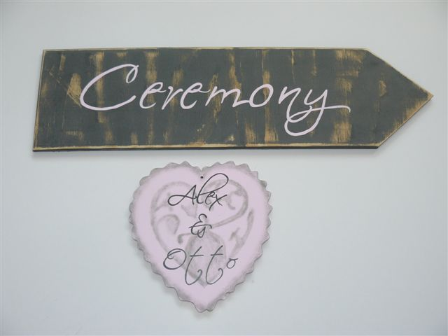 Wedding Ceremony Direction plaque