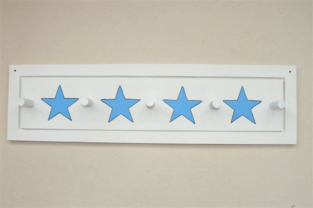 Coatrack white with light blue stars. The new coatracks does not