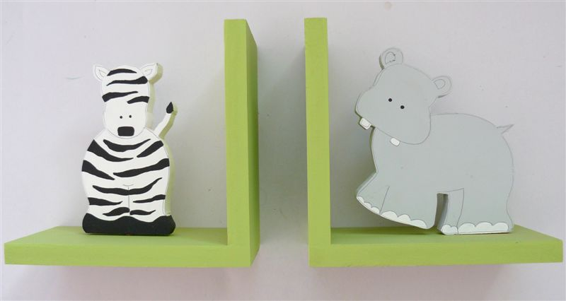 Lime Zebra and Hippo