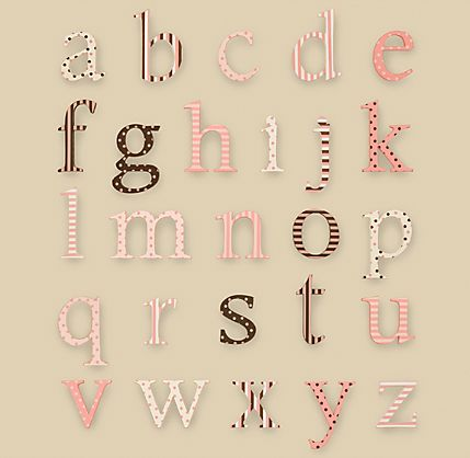 Alphabet wall in the same font