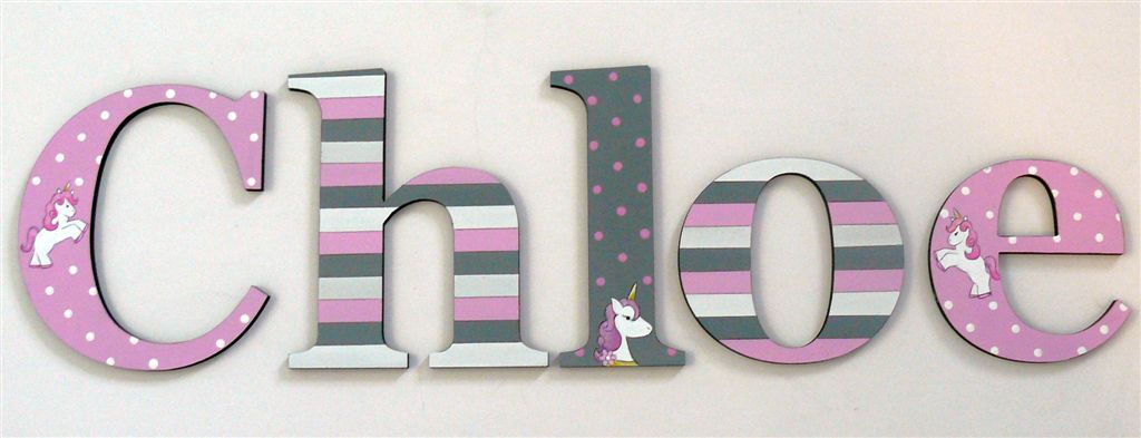 The Letterlady Handpainted Wooden Letters